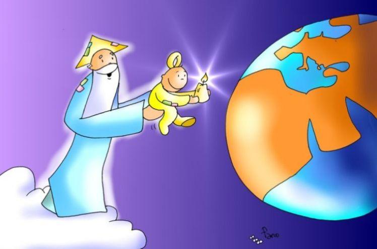 Resultado de imagen de dios mundo dibujo